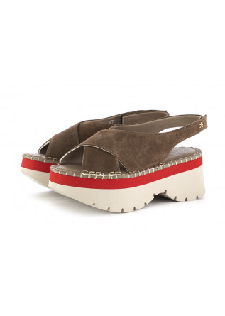 WOMEN'S WEDGE SANDALS PATRIZIA BONFANTI | GREY SUEDE