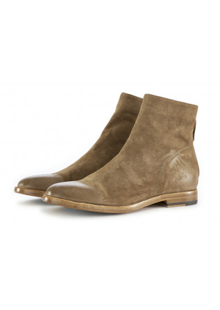WOMEN'S ANKLE BOOTS MOMA BEIGE SUEDE LEATHER