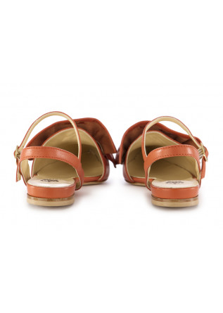 WOMEN'S FLAT SHOES L'ARIANNA | ORANGE LEATHER