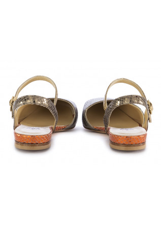 WOMEN'S FLAT SANDALS L'ARIANNA | METALLIC LEATHER