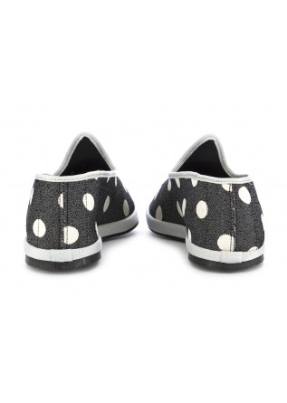 WOMEN'S FLAT SHOES MIEZ | BLACK WHITE POLKADOT