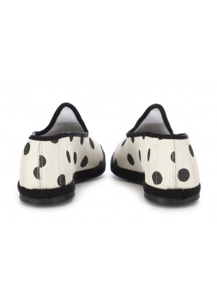 WOMEN'S FLAT SHOES MIEZ | WHITE BLACK POLKADOTS