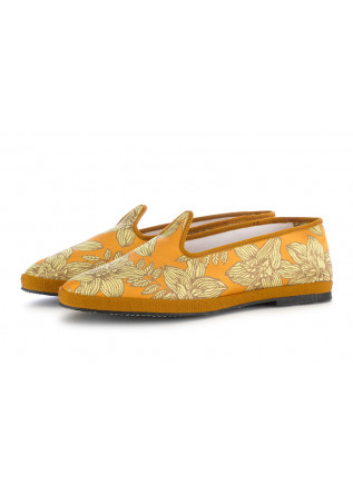WOMEN'S FLAT SHOES MIEZ ORANGE FLOWERS