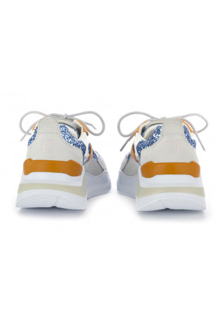 WOMEN'S SNEAKERS D.A.T.E. | LIGHT BLUE / ORANGE