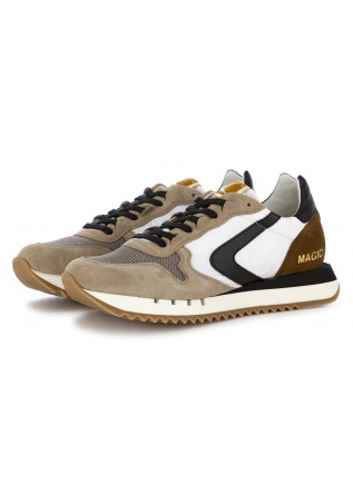 "MEN'S SNEAKERS ""MAGIC"" VALSPORT BLACK BROWN WHITE"