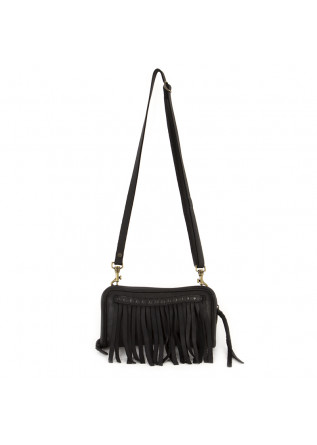 WOMEN'S SHOULDER BAG BLACK MANUFATTO ITALIANO 1956
