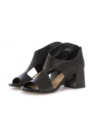 WOMEN'S HEEL SANDALS SALVADOR RIBES BLACK