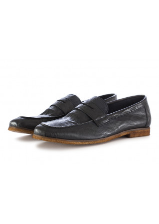 MEN'S LOAFERS BLUE LEATHER TON GOUT
