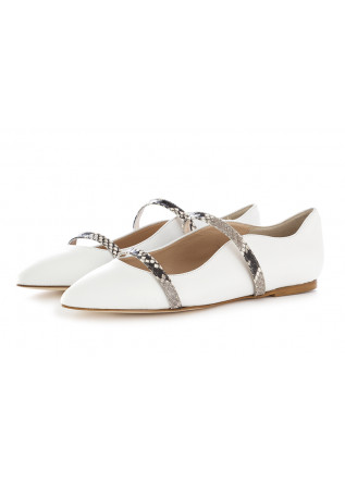 WOMEN'S SHOES BALLERINAS WHITE IL BORGO FIRENZE