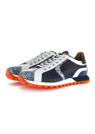 HERRENSCHUHE SNEAKERS BLAU WEISS ORANGE LORENZI