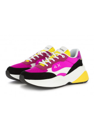 WOMEN'S SNEAKERS SUN68 | FUCHSIA BLACK YELLOW