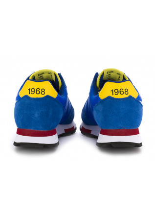 MEN'S SNEAKERS SUN68 | BLUE / WHITE / YELLOW - TEXTILE / SUEDE