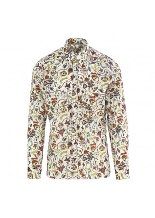MEN'S SHIRT TINTORIA MATTEI 954 WHITE/MULTICOLOR