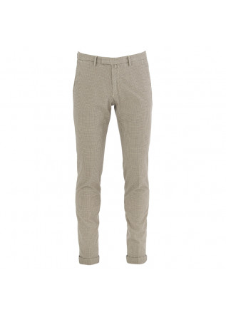 MEN'S TROUSERS BRIGLIA BEIGE BLUE COTTON