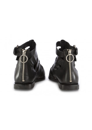 WOMEN'S SANDALS MJUS | BLACK LEATHER BELTS