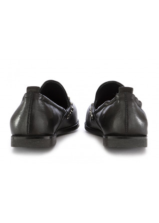 WOMEN'S FLAT SHOES MJUS | BLACK LEATHER