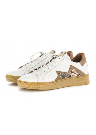 WOMEN'S SNEAKERS MJUS | WHITE BEIGE CARAMEL LEATHER