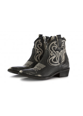 WOMEN'S TEXAN ANKLE BOOTS JUICE BLACK LEATHER