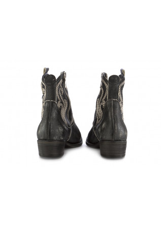 WOMEN'S TEXAN ANKLE BOOTS JUICE | BLACK LEATHER