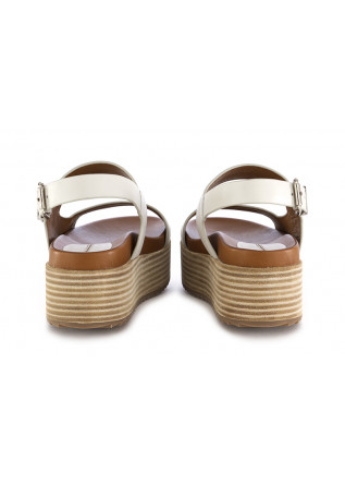 WOMEN'S WEDGE SANDALS RAHYA GREY | WHITE