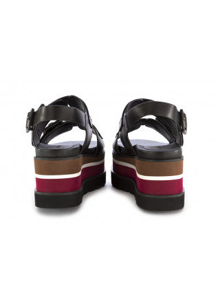 WOMEN'S WEDGE SANDALS RAHYA GREY | BLACK RED