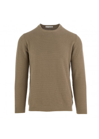 MEN'S SWEATER DANIELE FIESOLI KHAKI BROWN COTTON