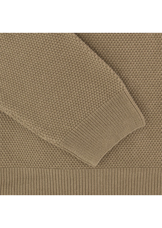 MEN'S SWEATER DANIELE FIESOLI | KHAKI BROWN COTTON