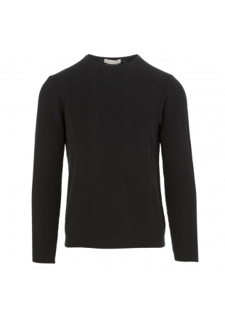 MEN'S SWEATER DANIELE FIESOLI BLACK COTTON
