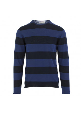 MEN'S SWEATER DANIELE FIESOLI BLUE DARK BLUE COTTON