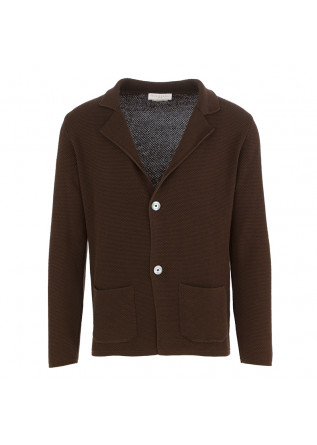 MEN'S CARDIGAN JACKET DANIELE FIESOLI CHOCOLATE BROWN