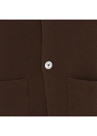 MEN'S CARDIGAN JACKET DANIELE FIESOLI | CHOCOLATE BROWN
