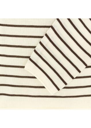 MAGLIONE UOMO DANIELE FIESOLI | BIANCO MARRONE COTONE