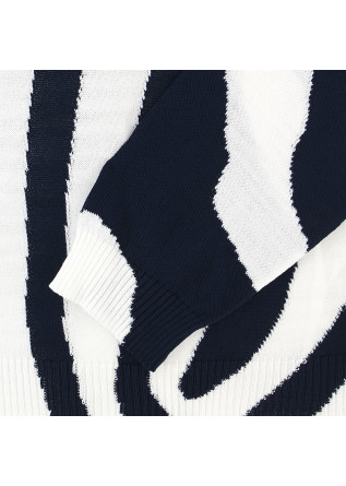 MEN'S SWEATER DANIELE FIESOLI | WHITE BLUE COTTON