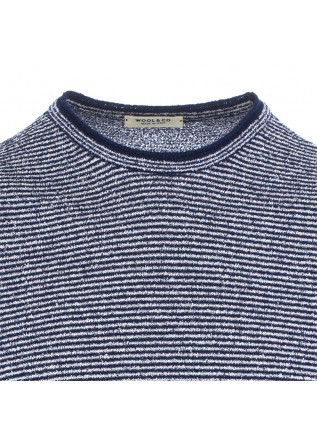 MEN'S T-SHIRT WOOL & CO | BLUE WHITE STRIPES