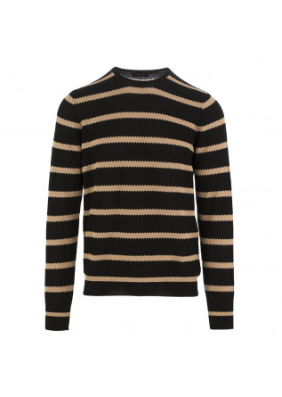MEN'S SWEATER ROBERTO COLLINA BLACK BEIGE