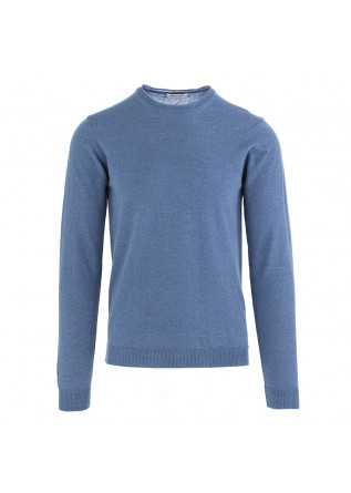 MEN'S SWEATER WOOL & CO LIGHT BLUE COTTON