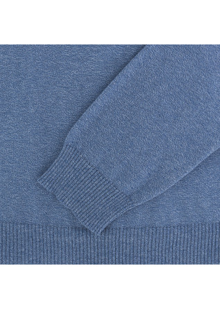 MEN'S SWEATER WOOL & CO | LIGHT BLUE COTTON
