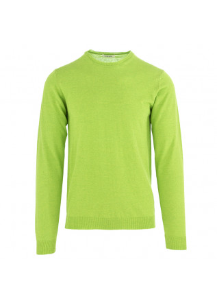 MEN'S SWEATER WOOL & CO FLUORESCENT GREEN COTTON