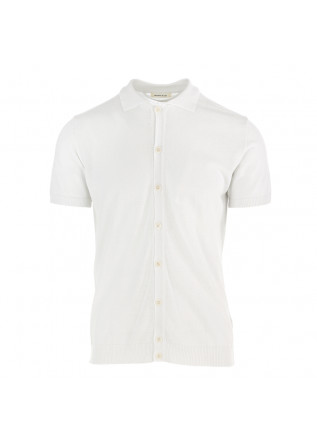 MEN'S POLO SHIRT WOOL & CO WHITE COTTON