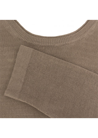 MEN'S SWEATER WOOL & CO | BEIGE LINEN BLEND