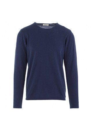 MEN'S SWEATER WOOL & CO BLUE MARINE COTTON