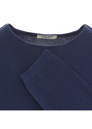 MEN'S SWEATER WOOL & CO | BLUE MARINE COTTON