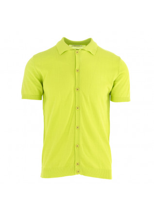 MEN'S POLO SHIRT WOOL & CO FLUORESCENT GREEN