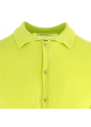 MEN'S POLO SHIRT WOOL & CO | FLUORESCENT GREEN