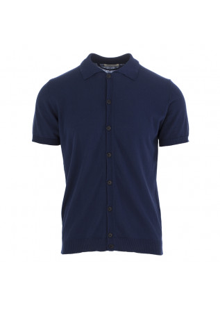MEN'S POLO SHIRT WOOL & CO DARK BLUE
