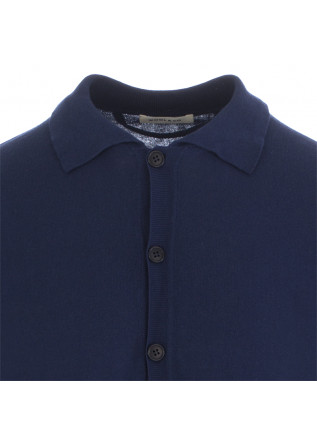 MEN'S POLO SHIRT WOOL & CO | DARK BLUE COTTON
