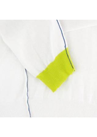 MEN'S SWEATER WOOL & CO | WHITE BLUE GREEN COTTON