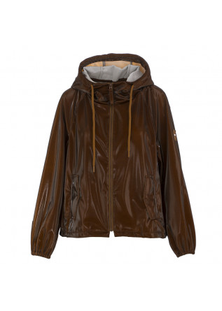 WOMEN'S JACKET OOF BROWN GLOSSY