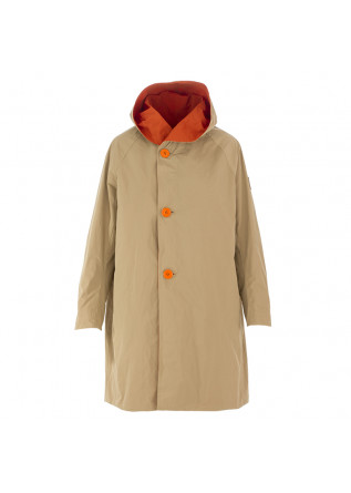 WOMEN'S RAIN JACKET OOF | ORANGE BEIGE REVERSIBLE