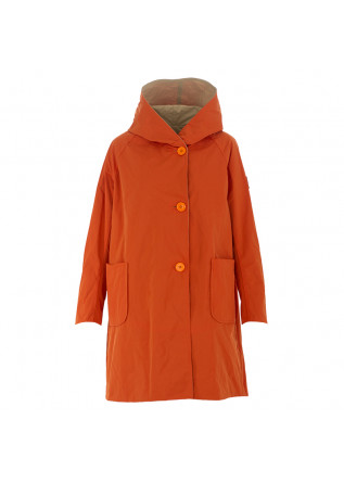 WOMEN'S JACKET OOF ORANGE BEIGE REVERSIBLE